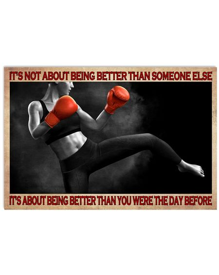 Amazing boxing its is not about being better than someone else poster
