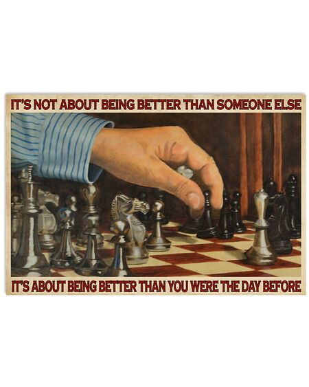 Amazing chess its is not about being better than someone else poster
