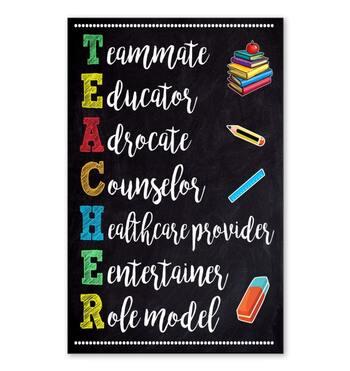 Amazing classroom teacher teammate educator adrocate poster