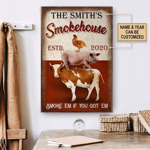 Amazing custom your name bbq smoke house smoke em if you got em poster