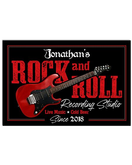 Amazing custom your name electric guitar rock and roll poster