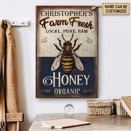 Amazing custom your name farm fresh local pure raw honey organic poster