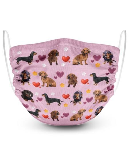 Amazing dachshund lovely valentine face mask
