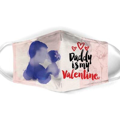 Amazing daddy is my valentine all over print face mask