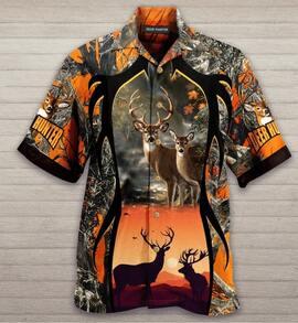 Amazing deer hunter all over printed hawaiian shirt