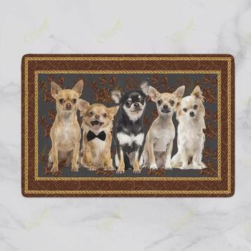 Amazing dog chihuahua welcoming you doormat