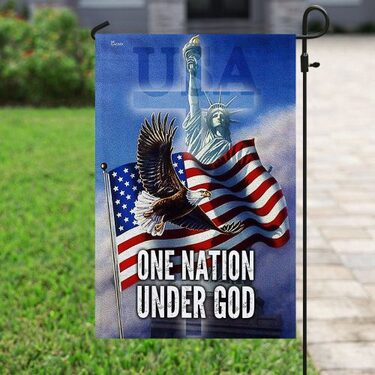 Amazing eagle american flag one nation under God all over print flag