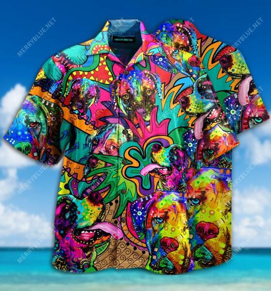 Amazing english mastiff summer all over printed hawaiian shirt