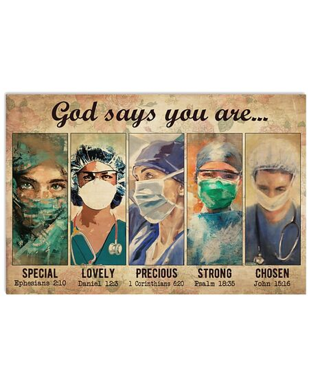 Amazing female physicians god says you are special lovely strong poster
