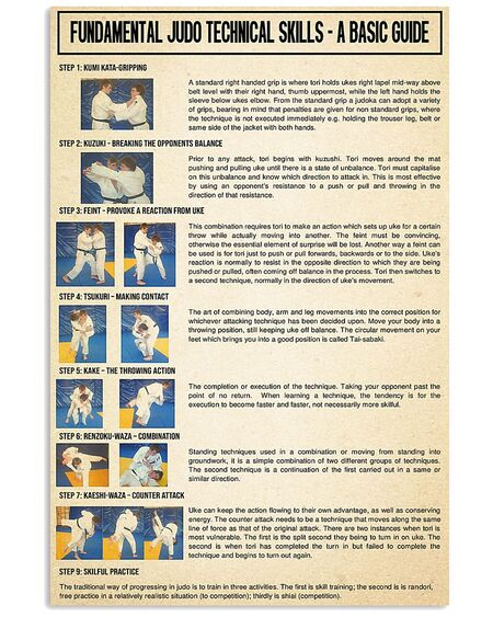 Amazing fundamental judo technical skills poster