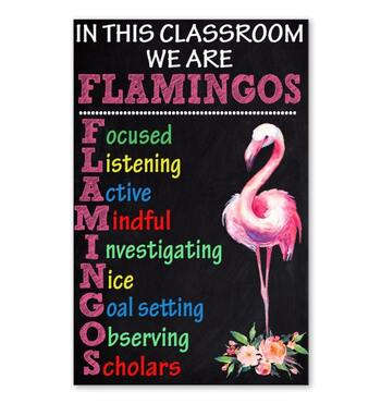Amazing in this classroom we are flamingos poster