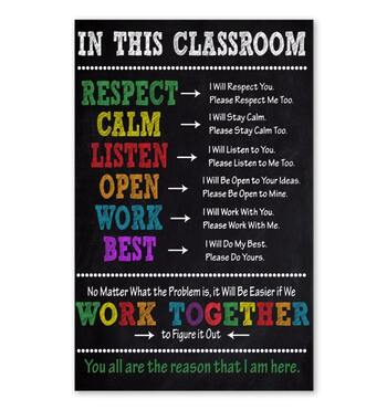 Amazing in this classroom you all are the reason that i am here poster