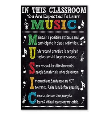 Amazing in this classroom you are expected to learn music poster