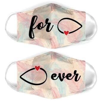 Amazing infinity symbol couple love all over print face mask