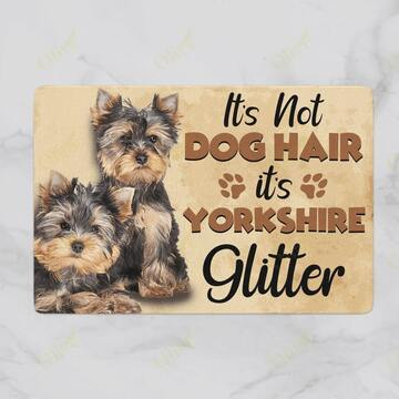 Amazing its not dog hair its yorkshire glitter doormat