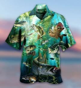 Amazing love fishing all over printed hawaiian shirt