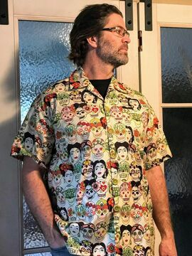 Amazing mexican inspired all over printed hawaiian shirt