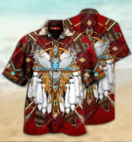 Amazing native american symbol all over printed hawaiian shirt