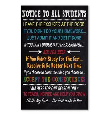 Amazing notice to all students ill do my past the rest is up to you poster