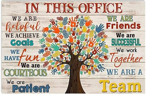 In This Office Social Worker We Are A Team poster