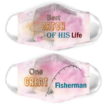Amazing one great fisherman couple all over print face mask