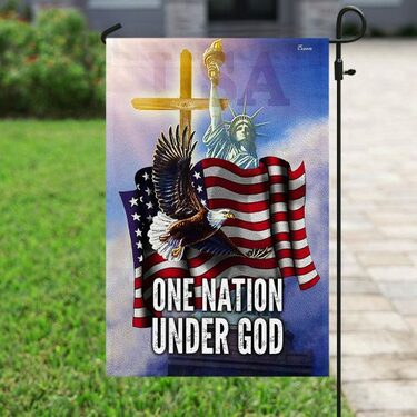 Amazing one nation under God american flag all over print flag