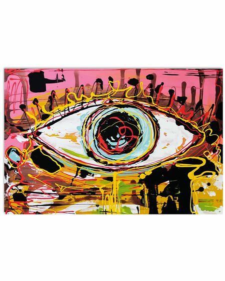 Amazing optometrist color art eye poster