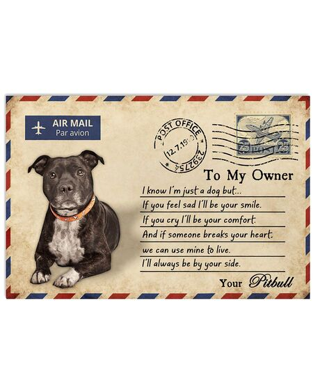 Amazing pitbull postcard to my owner ill always by your side poster
