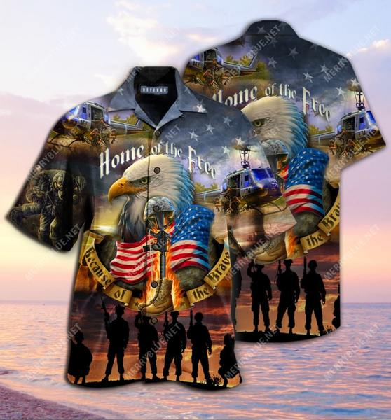 Amazing remember the days veteran home of the free all over printed hawaiian shirt