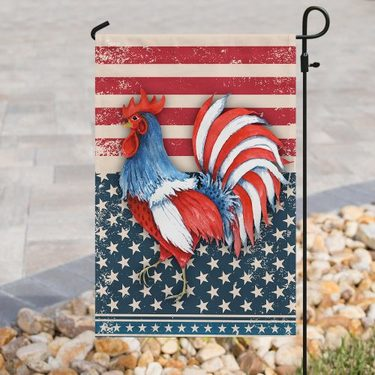 Amazing rooster american flag all over print flag