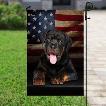 Amazing rottweiler american flag all over print flag