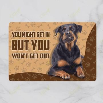 Amazing rottweiler you might get in but you wont get out doormat
