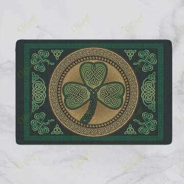 Amazing saint patricks day clover vintage doormat