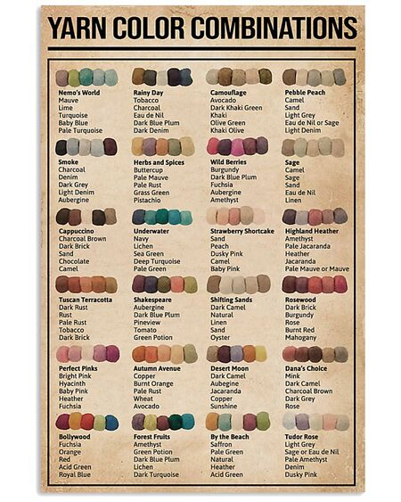 Amazing sewing yarn color combinations poster