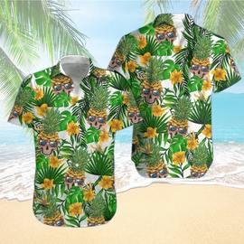 Amazing skull pineapple tropical all over printed hawaiian shirt