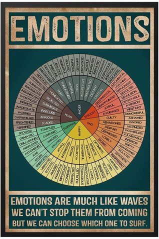 Amazing social worker emotions wheel chart poster