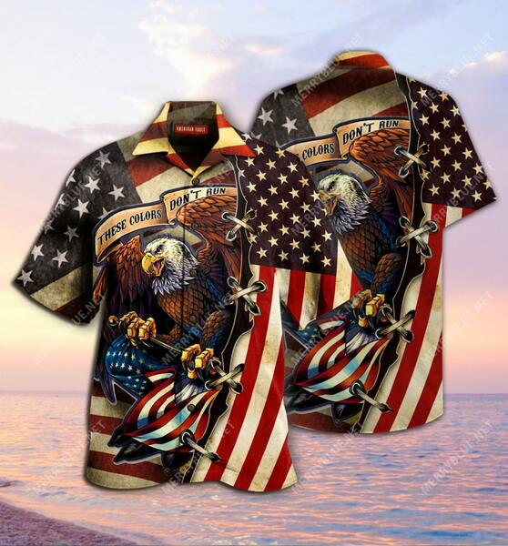 Amazing these colors dont run american flag eagle all over printed hawaiian shirt