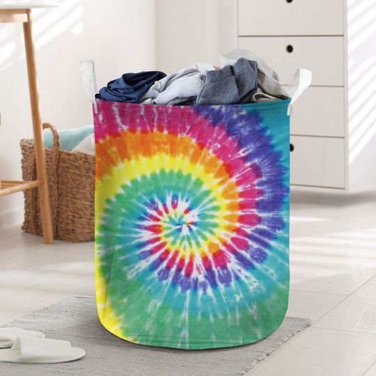 Amazing tie dye all over printed laundry basket