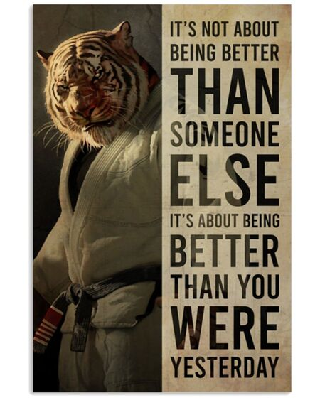 Amazing tiger its not about being better than someone else poster