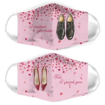 Amazing till i found you for couple love all over print face mask