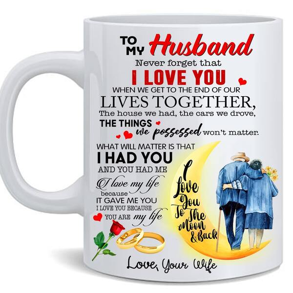Amazing to my husband i love you to the moon and back for valentines day mug