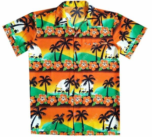 Amazing tropical summer beach all over printed hawaiian shirt