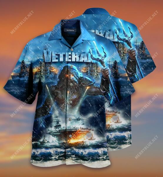 Amazing united state veterans on the ocean all over printed hawaiian shirt