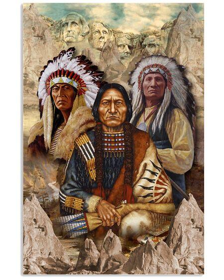 Amazing vintage indigenous man native american poster