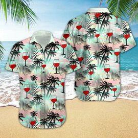 Amazing wine tropical all over printed hawaiian shirt