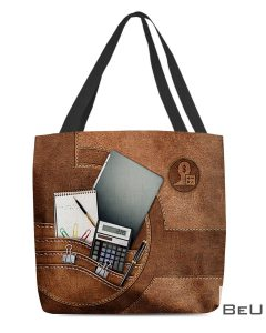 Accountant As Leather Tote Bag