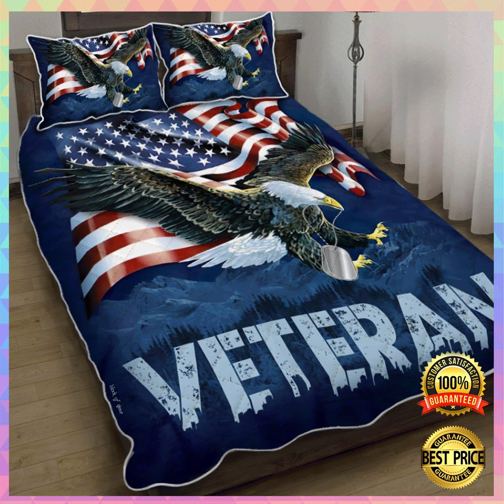 [Sale Off] American Eagle Veteran Bedding Set