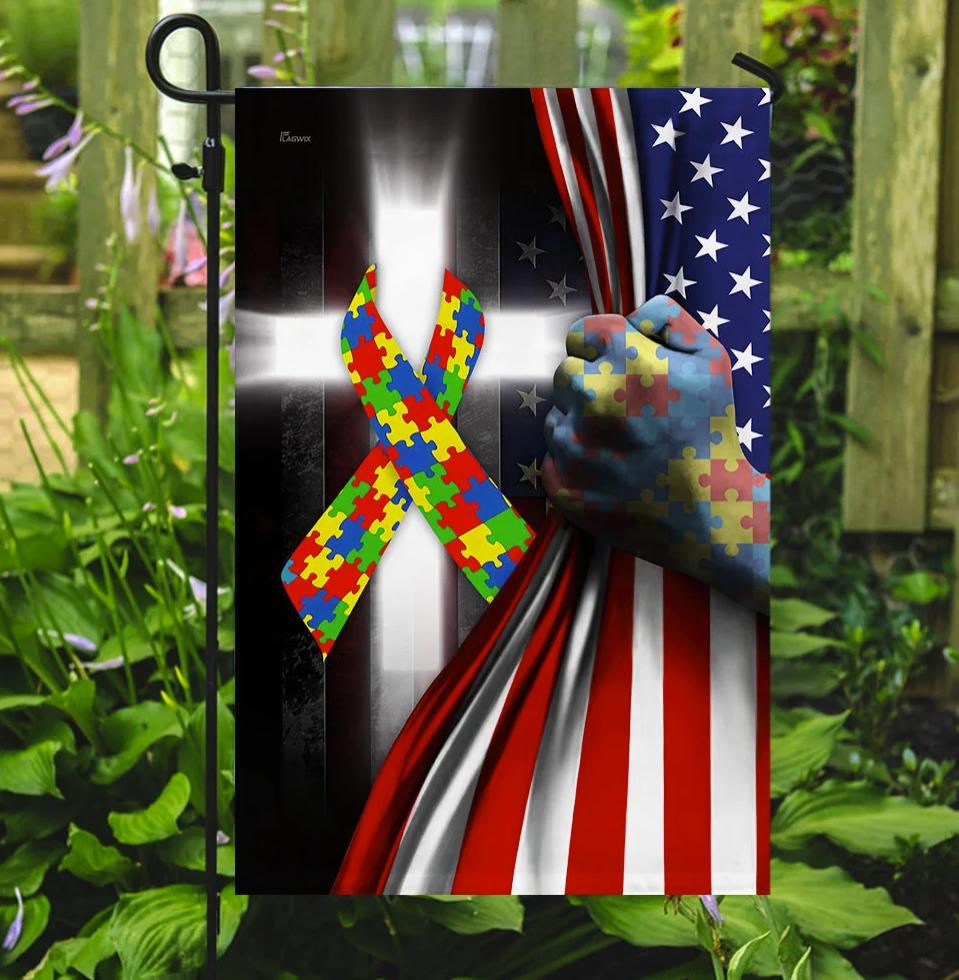 [NEW] AUTISM AWARENESS CROSS FLAG