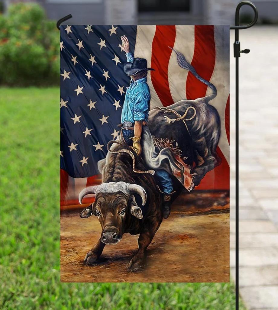 [HOT] Bull Riding Flag