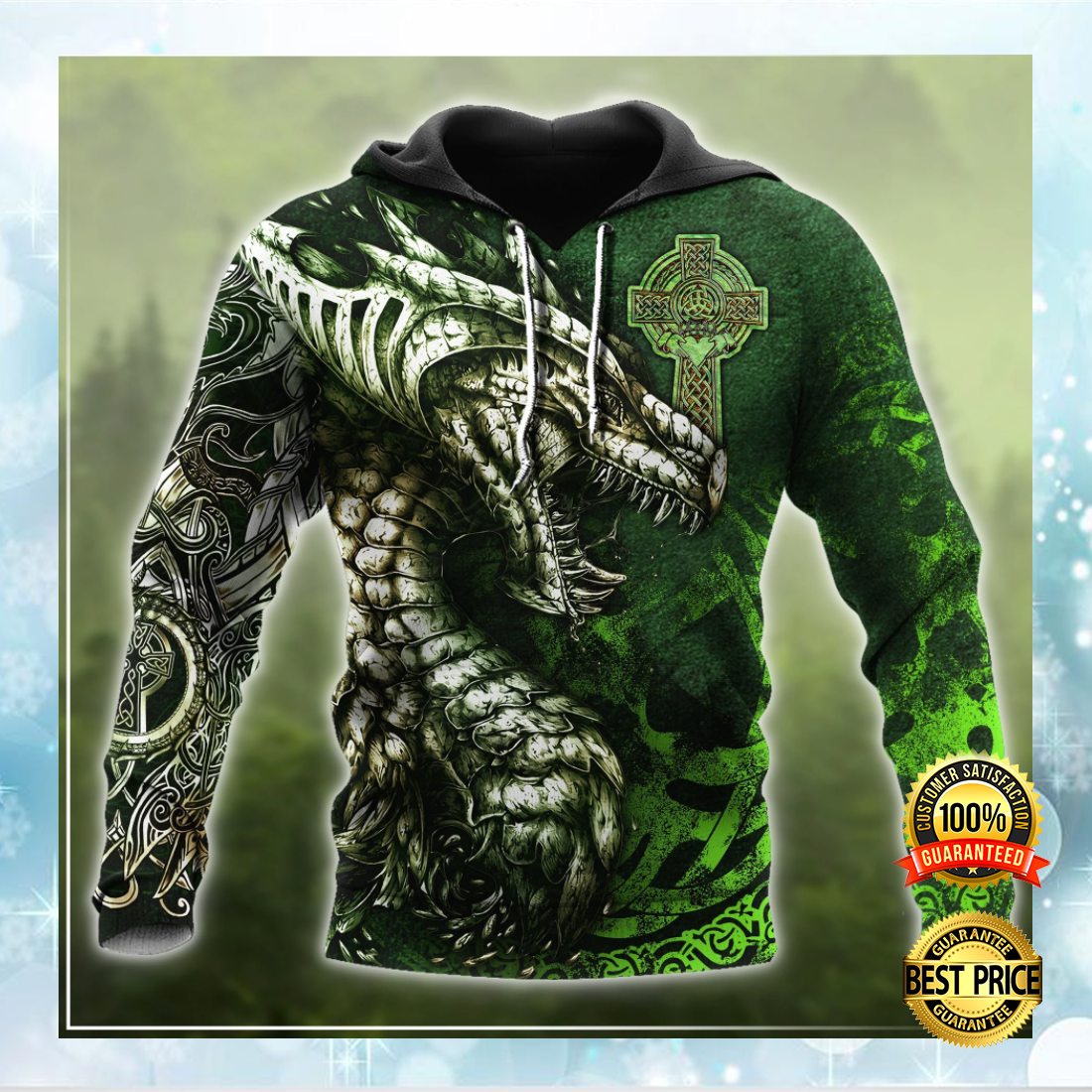 [Limited] Celtic Dragon Tattoo All Over Printed 3D Hoodie